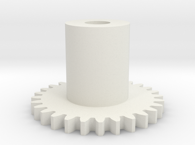 GEAR - MAIN GEAR in White Natural Versatile Plastic