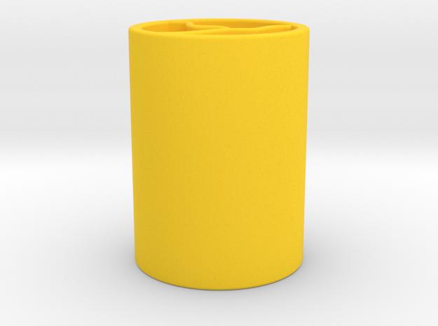 筆筒.stl in Yellow Processed Versatile Plastic