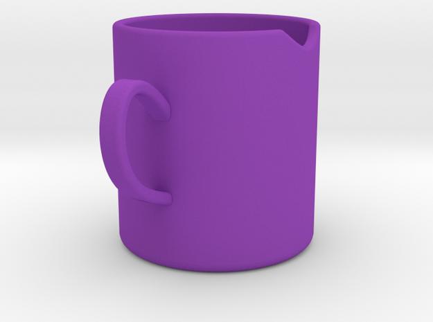 杯子.stl in Purple Processed Versatile Plastic