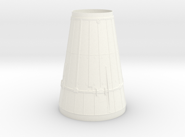 "Saturn 1B LM shroud- fits 3.938""  body tube in White Processed Versatile Plastic"