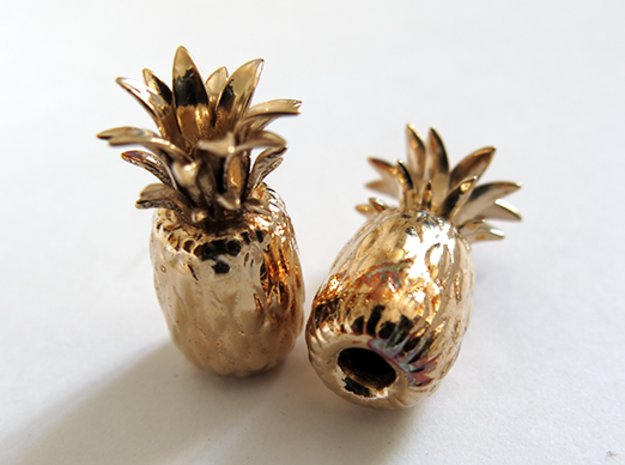 Pineapple in Polished Bronze