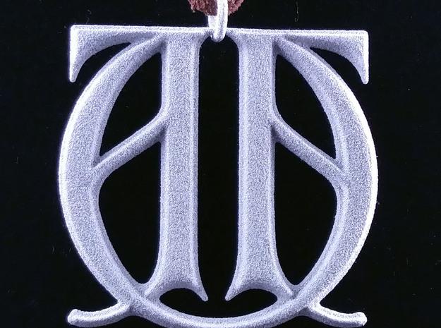 Monogram Initials AAU Pendant in Natural Silver