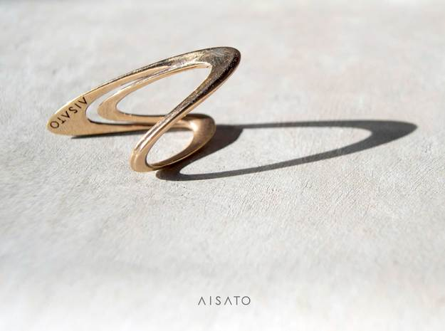 Loop Ring Size US 8.0  in 18k Gold Plated Brass