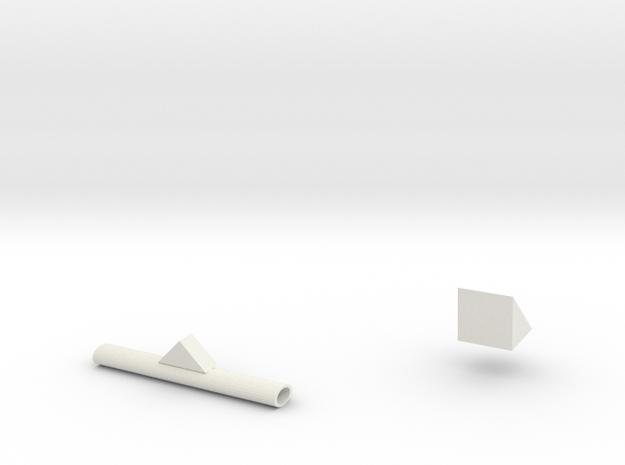 Components in White Natural Versatile Plastic