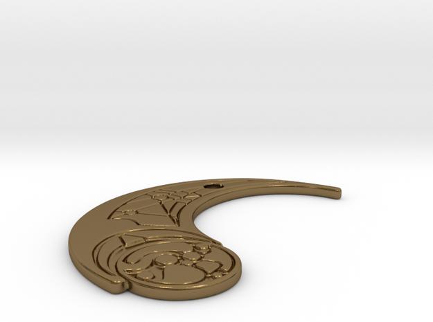TLJ Pendant (Single) in Polished Bronze