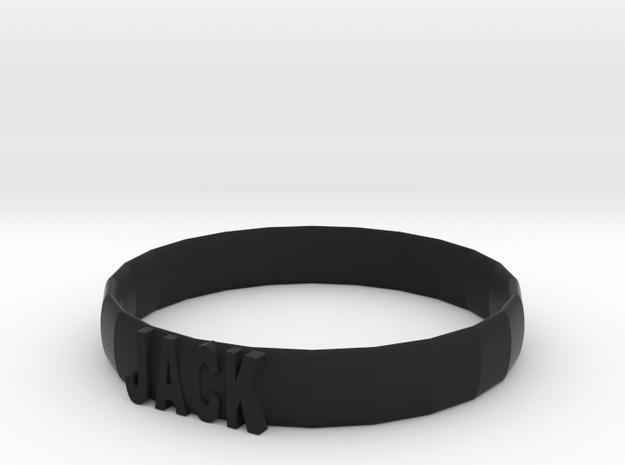 106102226 名稱手環 in Black Strong & Flexible: Small