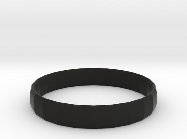 106102226 素色手環 in Black Strong & Flexible: Small