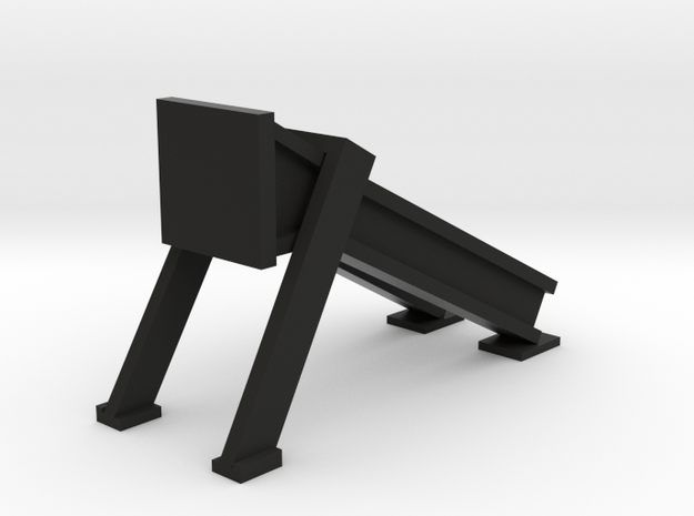 Bumper - modern HO 87:1 Scale in Black Natural Versatile Plastic
