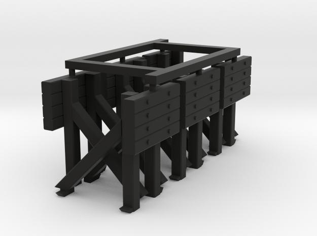 Bumper - Vintsge qty 6 HO 87:1 Scale in Black Natural Versatile Plastic