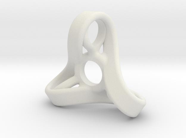 Infinity fidget spinner  in White Natural Versatile Plastic