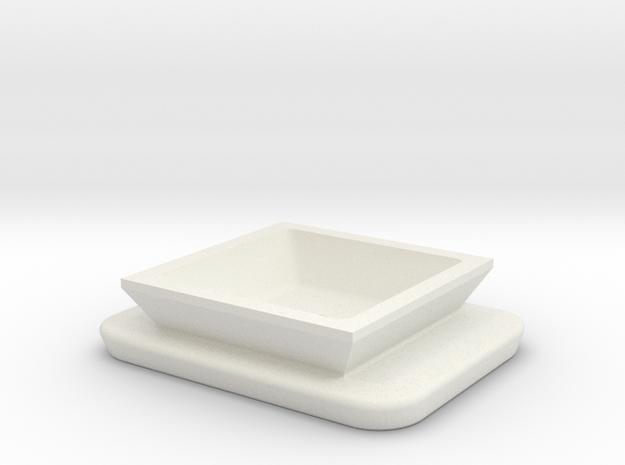 Tripod Shoe in White Natural Versatile Plastic