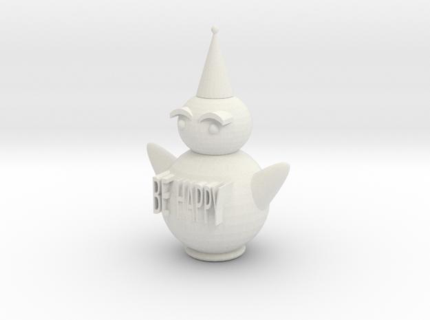 106102227BE HAPPY in White Natural Versatile Plastic