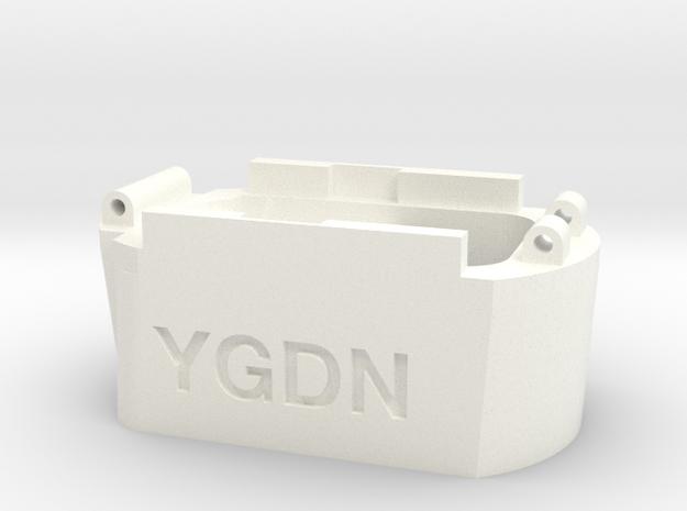 Glock hi capacity magazine to Hi-Capa AEP adapter in White Processed Versatile Plastic