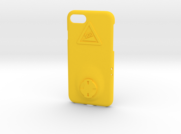 iPhone 7 Wahoo Mount Case - Hill Climb in Yellow Processed Versatile Plastic