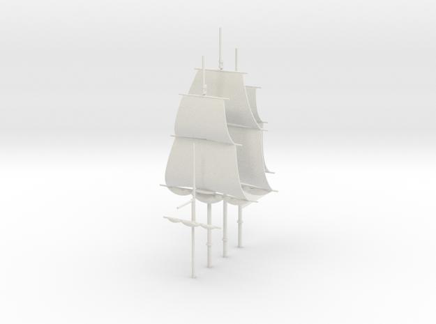 1/300 Frigate Mast Set V2 in White Natural Versatile Plastic