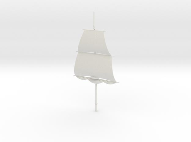 1/300 Frigate Mainmast V2 in White Natural Versatile Plastic