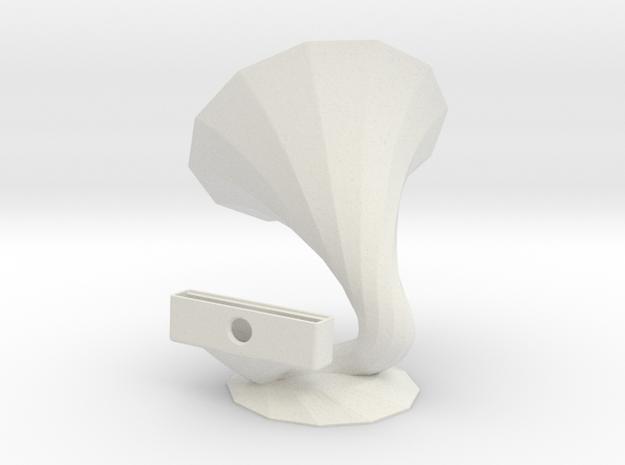 IPhone6 Speaker in White Natural Versatile Plastic