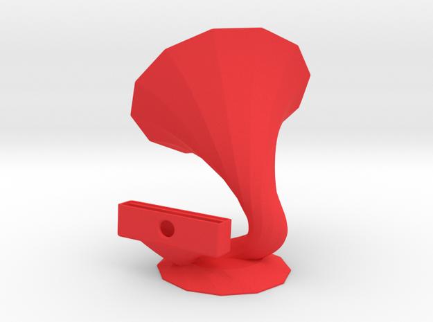PhoneSpeaker (all 2.3 inch phones) in Red Processed Versatile Plastic