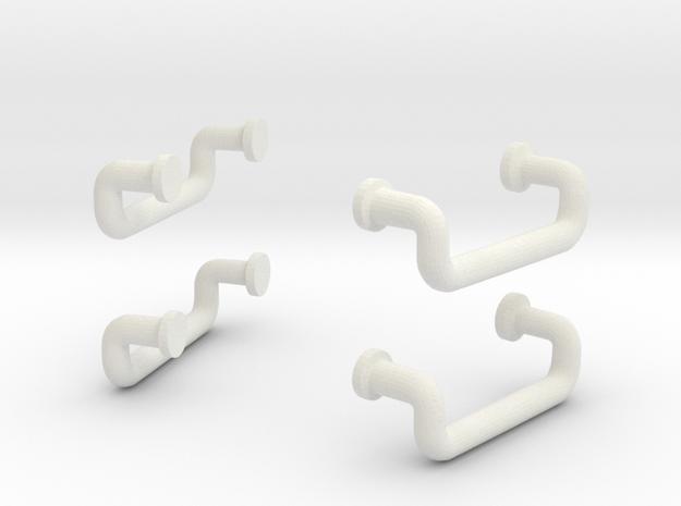 1/11 DKM UBoot VIICLadders x4 SET in White Natural Versatile Plastic