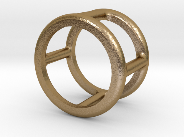 Simply Shapes Rings Circle in Polished Gold Steel: 3.25 / 44.625