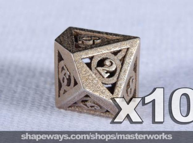 Deathly Hallows 10d10 Set 3d printed Stainless Steel