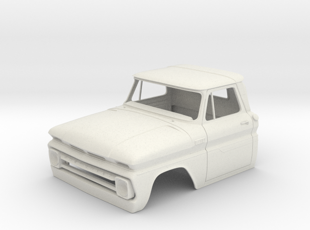 Chevrolet C10 Cab 1:10 in White Strong & Flexible