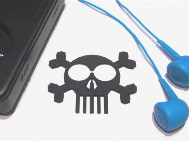 ''Skull & Bones'' Headphones Cord Manager