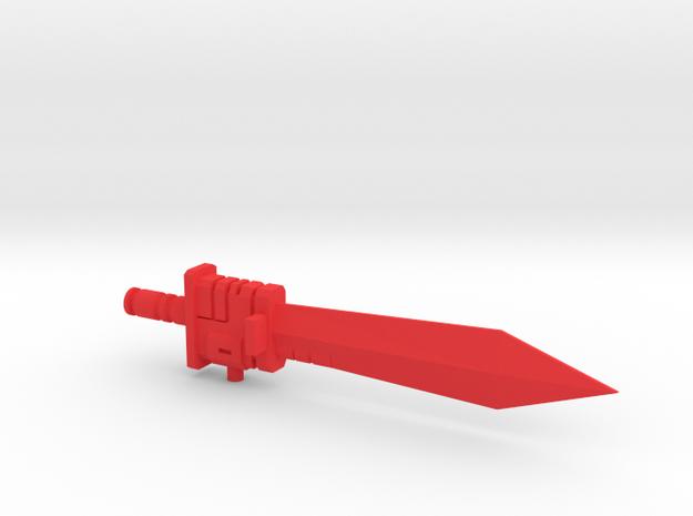 G1 style Sword for PotP Grimlock in Red Processed Versatile Plastic
