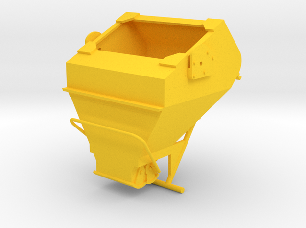 1:50 - 3 Cu yard laydown bucket in Yellow Processed Versatile Plastic