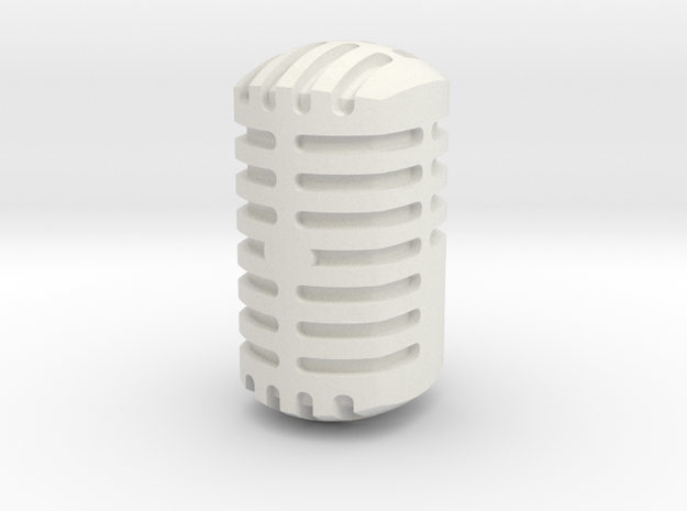 Microphone Head for ModiBot in White Natural Versatile Plastic