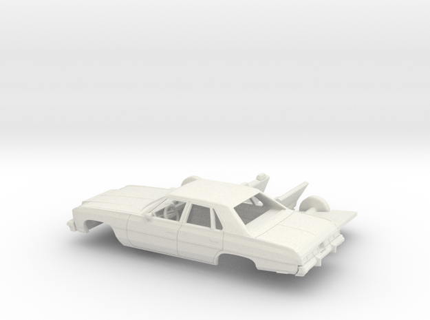 1/24 1976 Chevrolet Impala Sedan Kit in White Natural Versatile Plastic