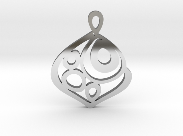 """""""One becomes three"""" Pendant in Fine Detail Polished Silver"""