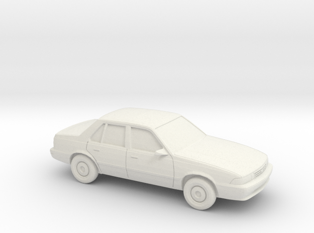 1/24 1988-93 Chevrolet Cavalier Sedan in White Natural Versatile Plastic