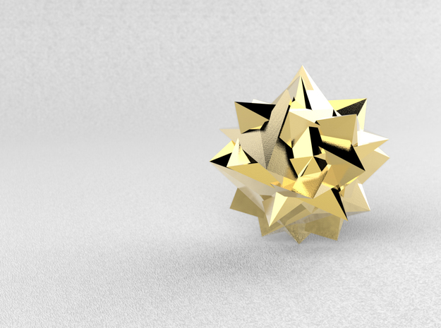 Go Geometric Homeware Mess in Polished Bronze Steel: Small