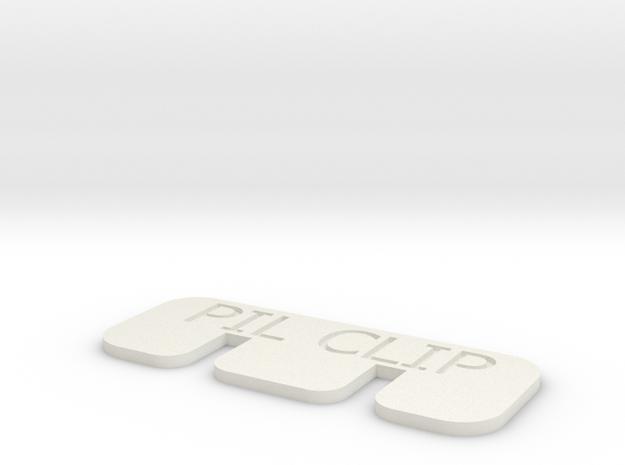 PIL Clip r2 in White Natural Versatile Plastic