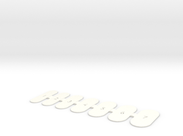 Nail Wrap Template (Large) in White Processed Versatile Plastic