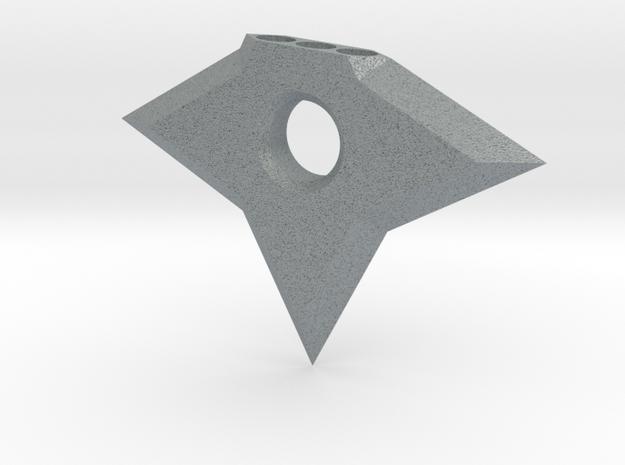 Ninja Star Magnet in Polished Metallic Plastic
