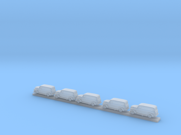 1/350 5X 1947-55 Chevrolet-Panel Van Extended in Smooth Fine Detail Plastic