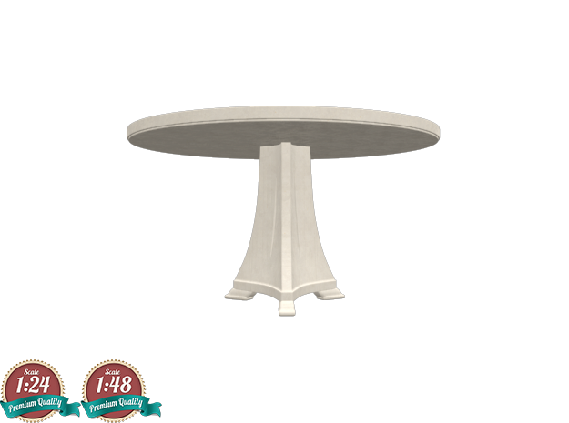 Miniature Celine Dining Table - Christopher Guy in White Natural Versatile Plastic: 1:24