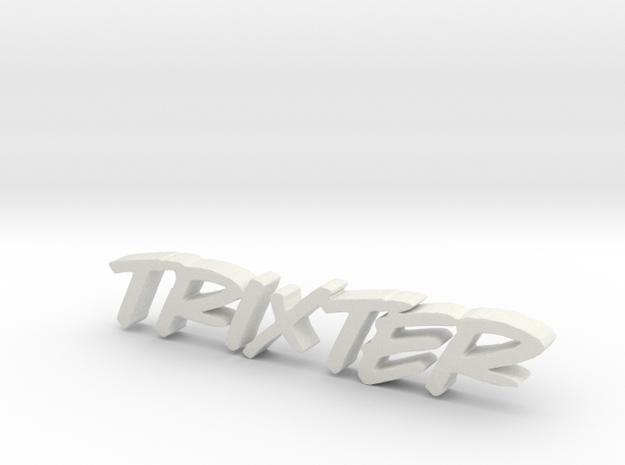 Typographic Sculpture in White Natural Versatile Plastic