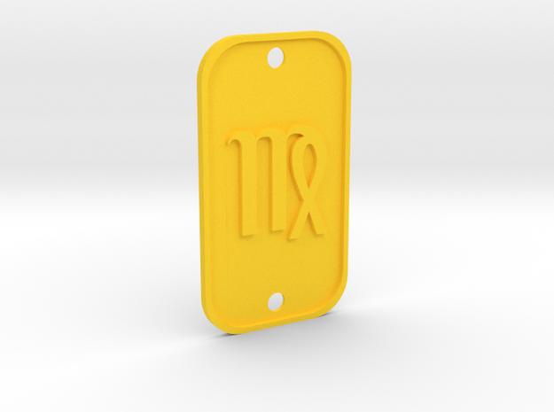 Virgo (The Maiden) DogTag V1 in Yellow Processed Versatile Plastic