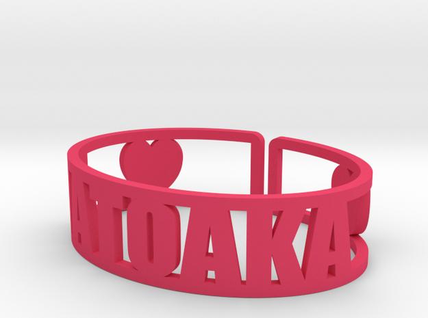 Matoaka Cuff in Pink Processed Versatile Plastic