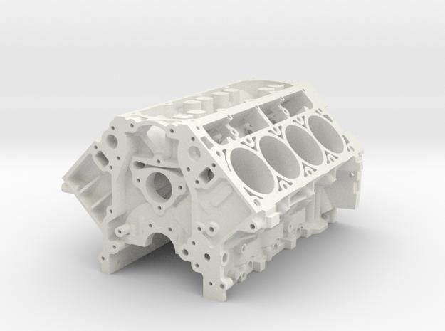 1/8 Scale LS3 Engine Block in White Natural Versatile Plastic: 1:8