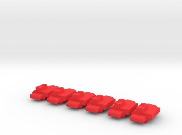 g-lock follower 6 in Red Processed Versatile Plastic
