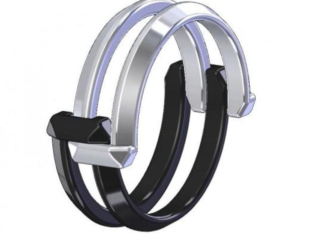 Interconnect Ring (Half) in White Strong & Flexible Polished