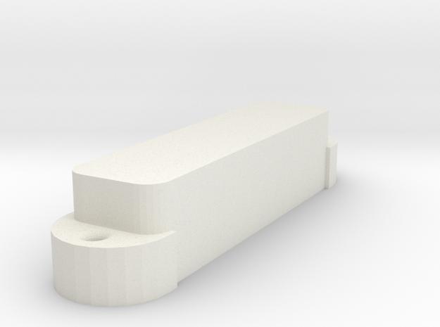 Jag PU Cover, Single, Closed in White Premium Versatile Plastic