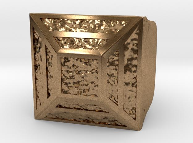 Joker's Pyramid Ring - Metals in Raw Brass: 7.5 / 55.5
