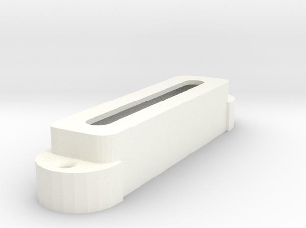 Jag PU Cover, Single, Open in White Processed Versatile Plastic