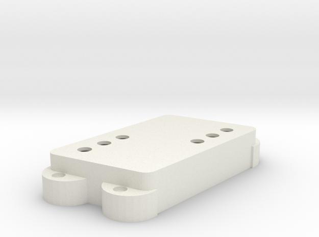 Jag PU Cover, Double, Angled, WR in White Premium Versatile Plastic
