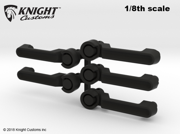 CM10001 JK Door Handles 8th scale in Black Natural Versatile Plastic